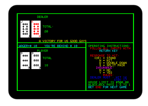 (Image of Compucolor II emulator running a program)