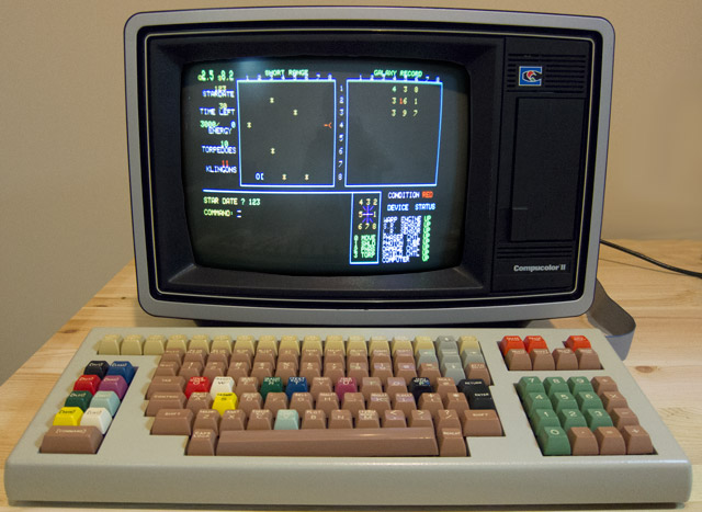 (Image of Compucolor II emulator running Star Trek)